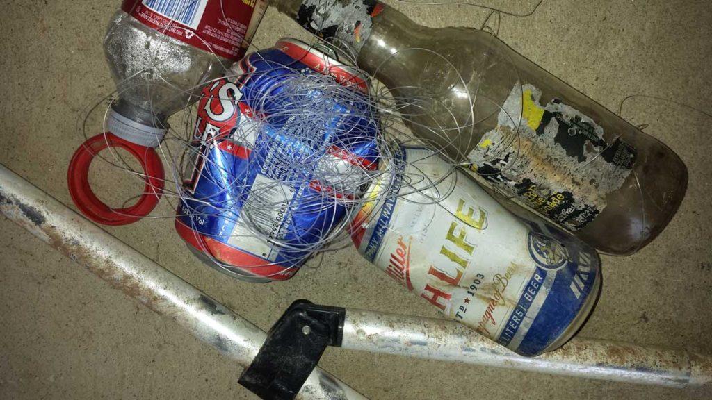 Trash found in public parks